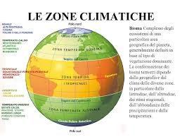 Le Zone Climatiche della Terra – Schema